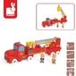 Straż pożarna pojazd z postaciami zestaw