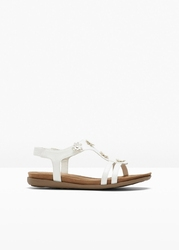 Sandały bonprix biały
