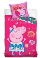Pościel świnka peppa 140x200 kwiatki pepa pig