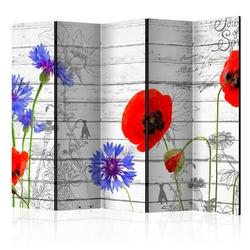 Parawan 5-częściowy - polne kwiaty room dividers