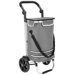 Składany wózek torba na zakupy na kółkach szary - szary