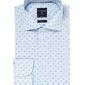 Elegancka błękitna koszula profuomo slim fit w drobną kratkę i kolorowy wzorek 39