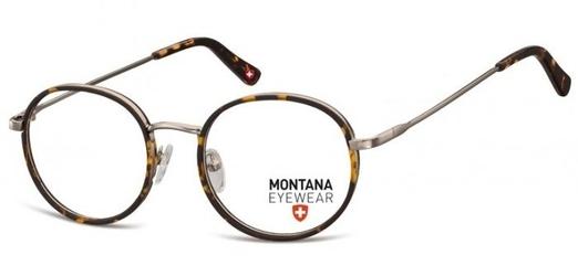 Panterkowe lenonki okrągłe okulary oprawki optyczne mm608