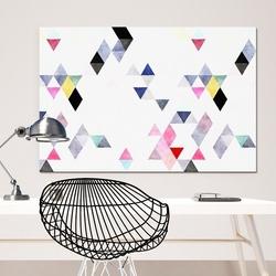 Modny obraz na płótnie - triangular design , wymiary - 115cm x 170cm