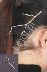 Wsuwka do włosów duża złota gałązka