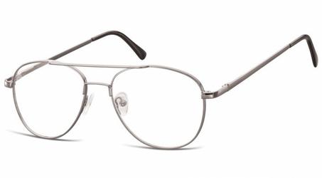 Okulary oprawki dziecięce zerówki pilotki mk3-44b srebrne