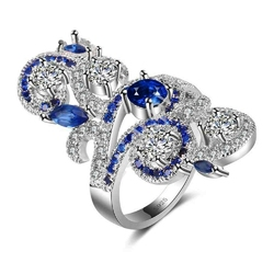 Duży pierścionek damski srebro 925 z ażurowym wzorem