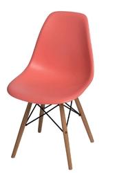 Krzesło p016w pp inspirowane dsw dark peach - pomarańczowy jasny