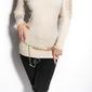 Dzianinowy sweter z cyrkoniami| swetry damskie 8102