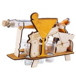 Komplet 7-częściowy karafka i kieliszki pistolet z grawerem