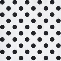 Tapeta biała w czarne grochy perłowa
