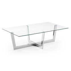 Szklany stolik plum 120x70 cm transparentny