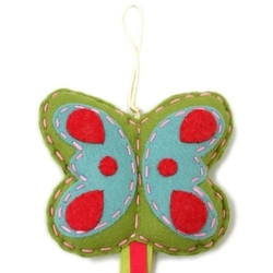 Wieszak na spinki i gumki motylek