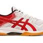 Buty sportowe męskie asics gel-rocket 9 czerwono-białe syntetyczne - biały || czerwony