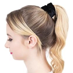 Gumka do włosów scrunchies frotka welur czarna
