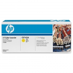 Hp oryginalny toner ce742a, yellow, 7300s, hp color laserjet cp5225