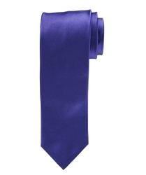 Purpurowy satynowy jedwabny krawat profuomo