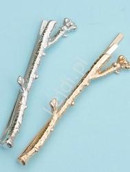 Wsuwki do włosów małe gałązki, złote i srebrne