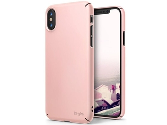 Etui ringke slim apple iphone x xs peach pink - różowy