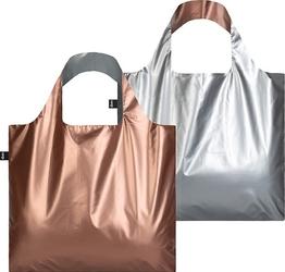Torba duo bag loqi metallic silver  rose gold