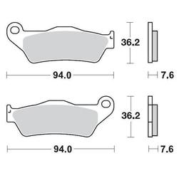 Klocki hamulcowe kh181 nitro racing metaliczne: 22 ktm: 125-200-250-300-350-360-380-440-500, wszystkie sx e moto-master m093022