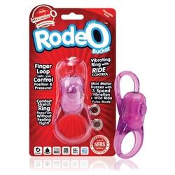 Sexshop - regulowany pierścień wibrujący na penisa - the screaming o rodeo bucker purple  - online