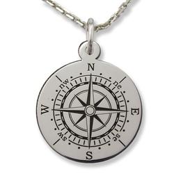 Wisiorek srebrny kompas- 1