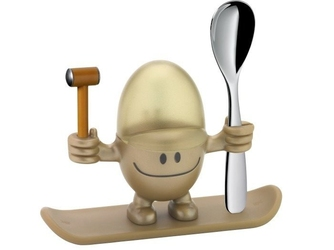 Kieliszek na jajko z łyżeczką mcegg złoty wmf