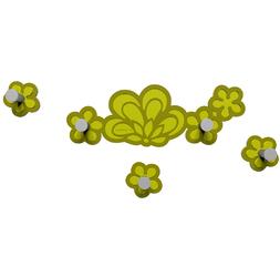 Wieszak ścienny Merletto CalleaDesign oliwkowo-zielony 56-13-1-54