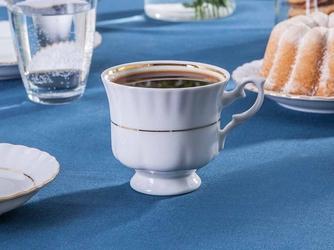 Filiżanka do kawy porcelana chodzież iwona złoty pasek 220 ml