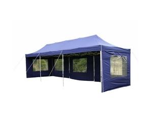 Pawilon handlowy 3x9 m automatyczny, niebieski namiot ogrodowy