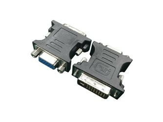 Gembird Adapter DVI-VGA 24M15F czarny
