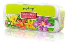 Zestaw farb akrylowych fevicryl 10x15ml do tkanin