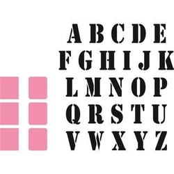 Wykrojniki do papieru i stemple alfabet