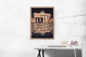 Berlin brama - plakat premium wymiar do wyboru: 50x70 cm