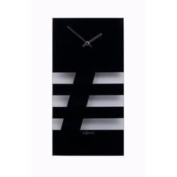 Nextime - zegar ścienny - bold stripes - czarny