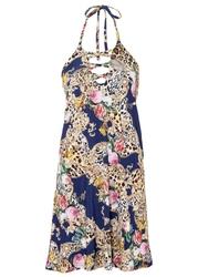 Sukienka z nadrukiem bonprix ciemnoniebieski z nadrukiem