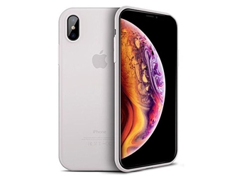 Etui cafele ultra slim do apple iphone xs max białe - biały