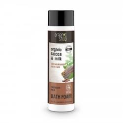 Pianka do kąpieli odżywcza mleczko czekoladowe 500 ml organic shop