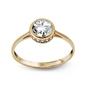 Staviori pierścionek z dużą cyrkonia. żółte złoto 0,333.