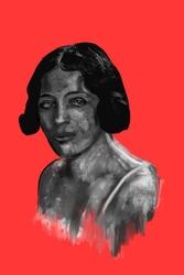 Zofia stryjenska - plakat premium wymiar do wyboru: 59,4x84,1 cm