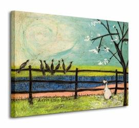 Doris And The Birdies - Obraz na płótnie