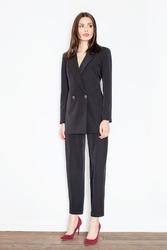 Czarne eleganckie spodnie z kantem