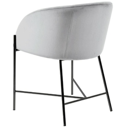 Aksamitny fotel nelson vic na czarnych nogach