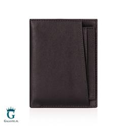 Pionowy portfel skórzany z wkładką 105ma
