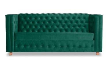 Sofa upsala welurowa 3-osobowa deluxe - welur łatwozmywalny peacock