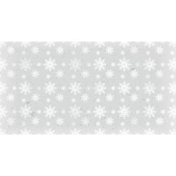 Papier ozdobny świąteczny 17x32 cm śnieg 1 - szary - szary