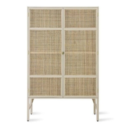 Hkliving :: szafka retro z półkami beżowa 125x40x200 cm