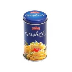 Spaghetti drewniany makaron w puszce