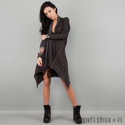 Sweter uc - washed raw cardi dark
